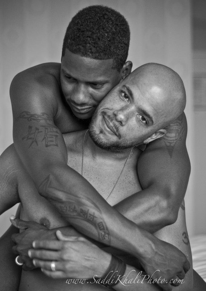 Two gay black guys having sex